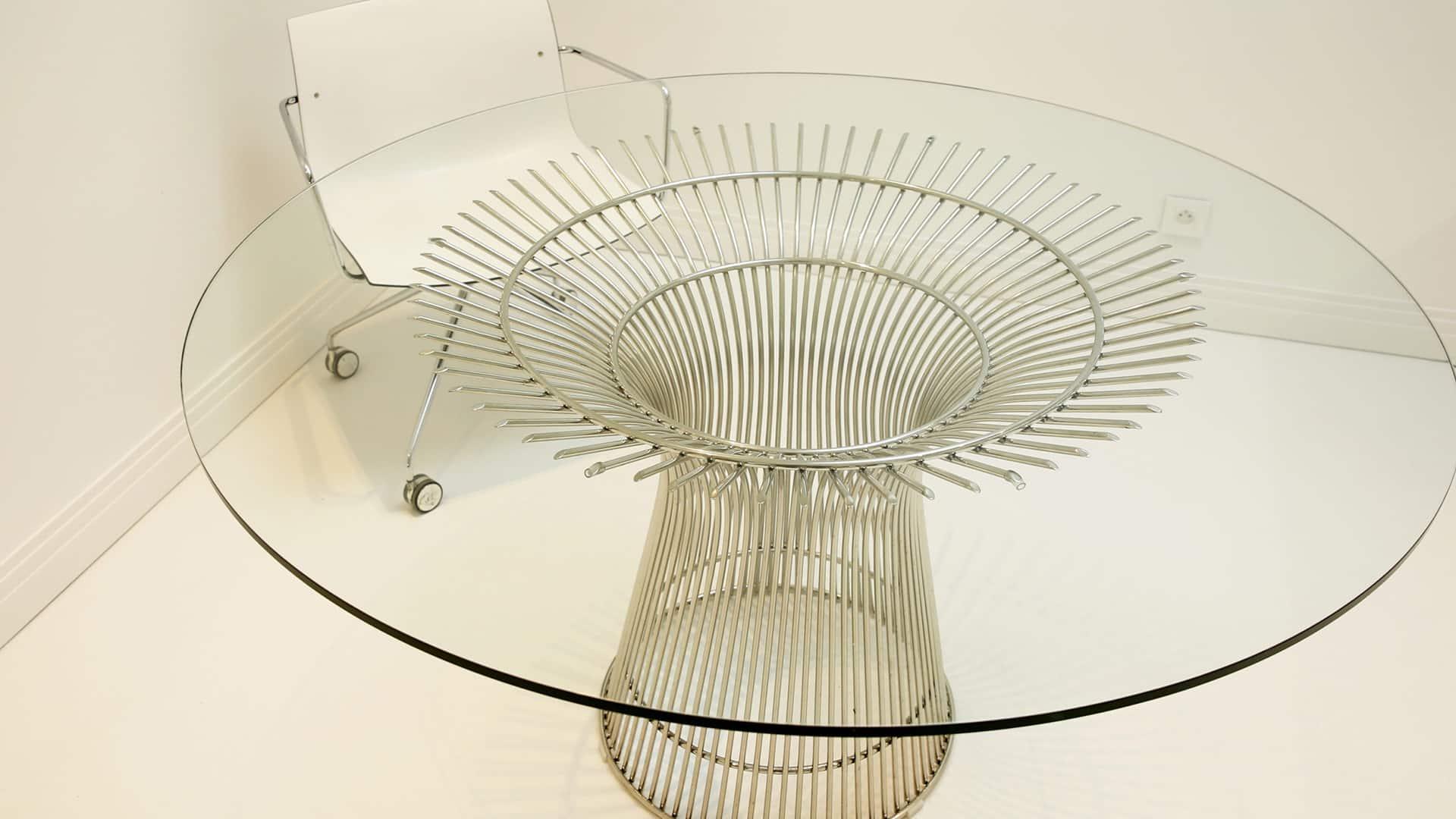 Table en verre trempé sur-mesure MTM miroiterie Toulouse