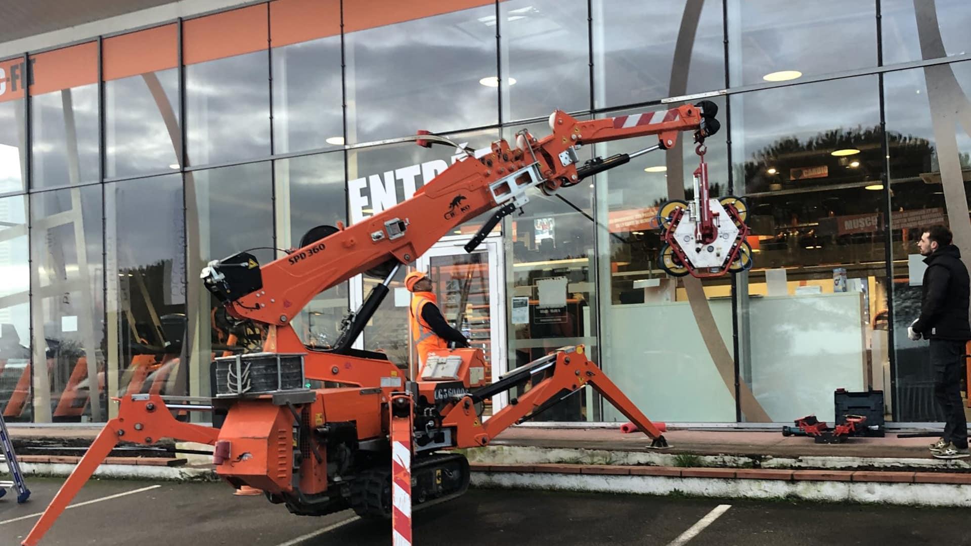 Réparation vitrine de commerce